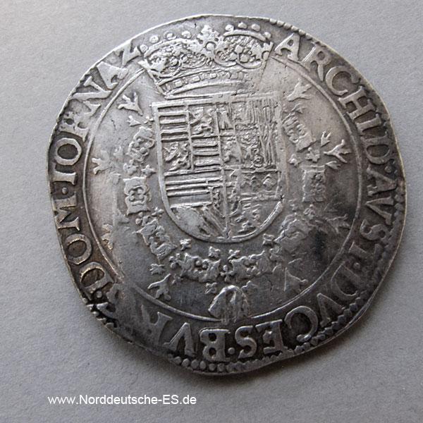 Spanische Niederlande 1 Patagon Albrecht Isabella 1598-1621