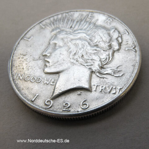USA Peace Dollar Silbermünze 1926