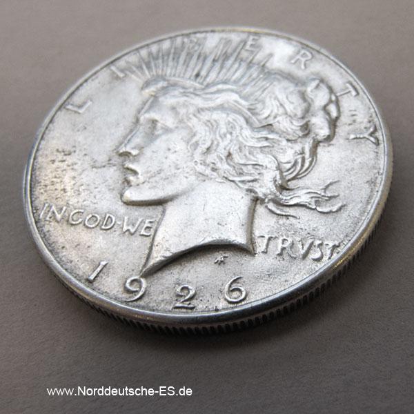 USA Peace Dollar Silbermünze 1926