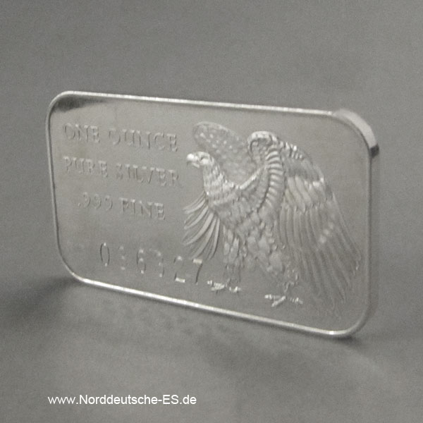 USA Silberbarren 1 oz Adler 200 Years Of Independence 1776-1976