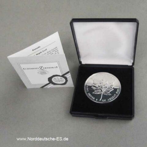 Maple Leaf Silbermünze als Geschenk