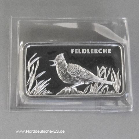 Motivbarren Heraeus 1_2 Unze Feinsilber 999 Feldlerche