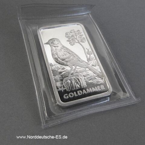Motivbarren Heraeus 1_2 Unze Feinsilber 999 Goldammer