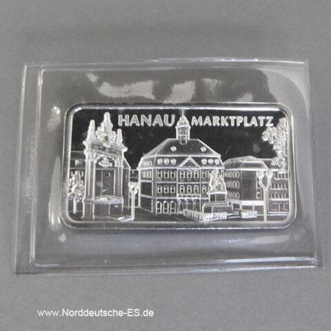Motivbarren Heraeus 1_2 Unze Feinsilber 999 Hanau Marktplatz