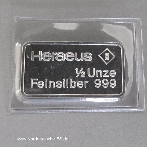 Motivbarren Heraeus 1_2 Unze Feinsilber 999