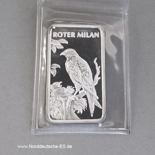 Motivbarren Heraeus 1_2 Unze Feinsilber 999 Roter Milan