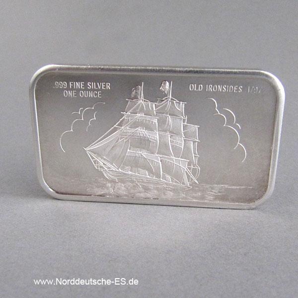 USA Silberbarren 1 oz Old Ironsides 1797 Madison Mint