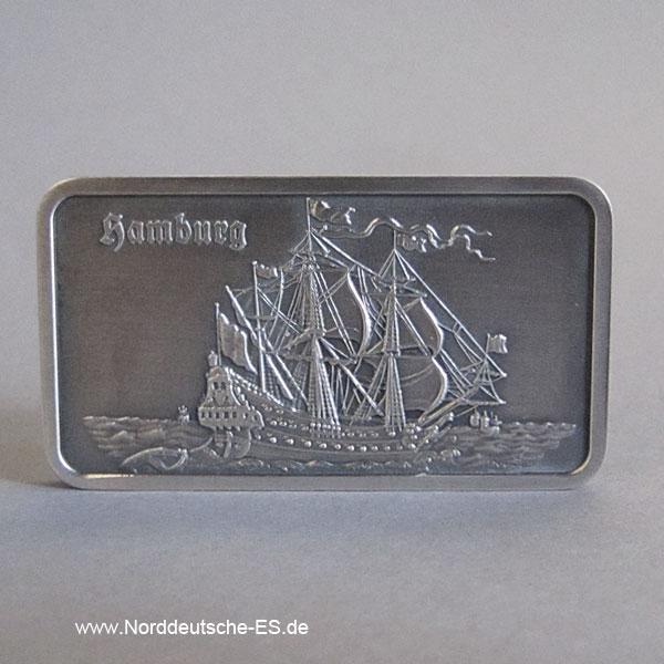 Feinsilberbarren 1 Unze Heraeus Schiff Wapen von Hamburg