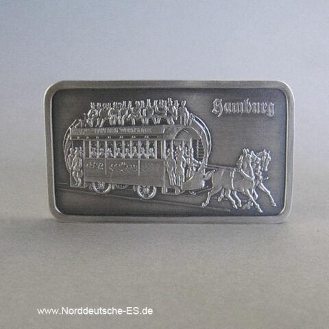 Feinsilberbarren 1 Unze Heraeus Pferdebahn 1866
