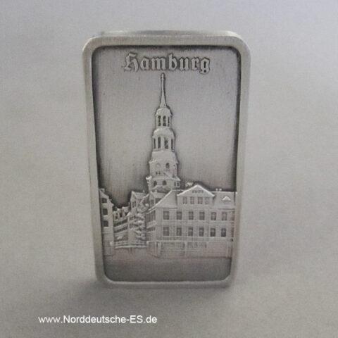 Feinsilberbarren Alt Hamburg 1 oz Heraeus Katharinenkirche