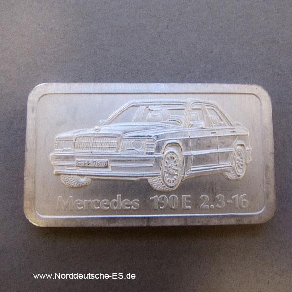 Silberbarren 1 Unze Mercedes 190 E 2-3-16 Degussa