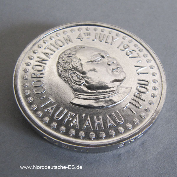 Tonga Palladium Münzen Set 1967 1 Hau 1_2 Hau 1_4 Hau