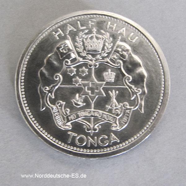Tonga Palladium Münzen Set 1967 ½ Hau