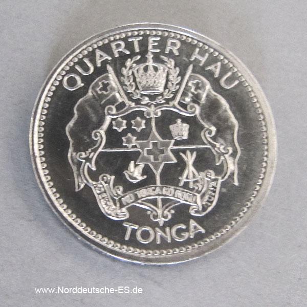 Tonga Palladium Münze ¼ Hau 1967