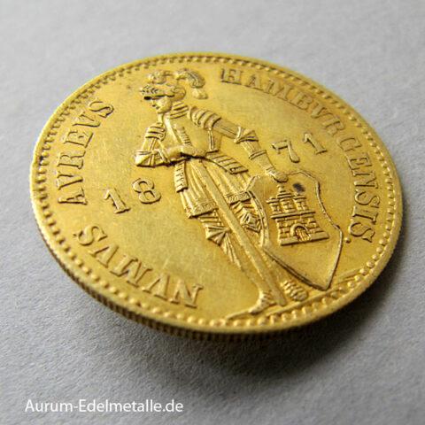 1 Dukat Goldmünze 1868-1872 Hamburg