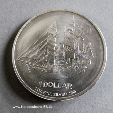 Cook Islands 1 OZ Silbermünze Bounty 2009