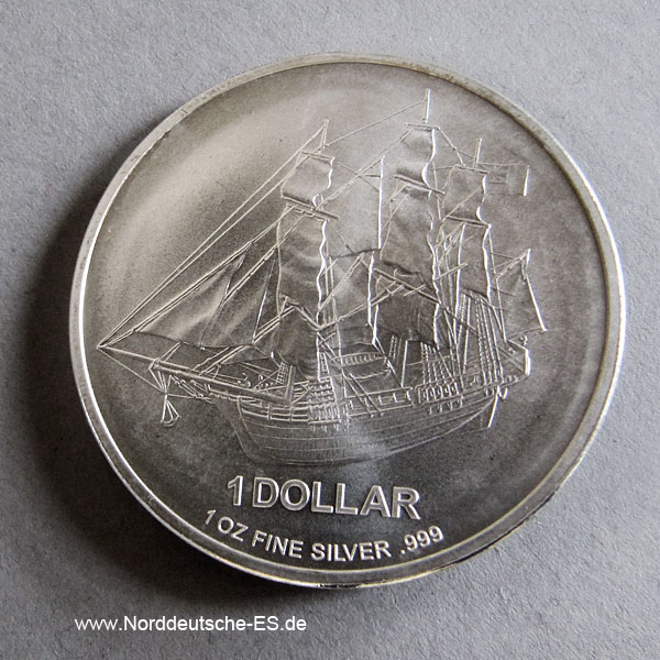 Cook Islands 1 OZ Silbermünze Bounty 2009