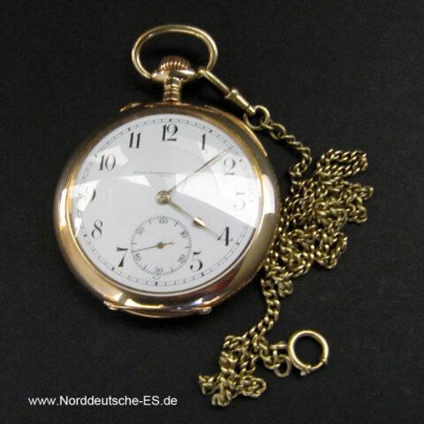Glashütte Taschenuhr 585er Gold ca 1920