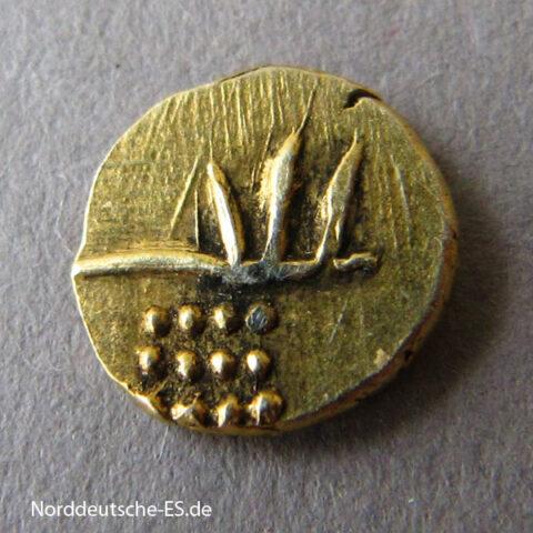 Indien Gold Fanam ca 1700-1830 Cochin