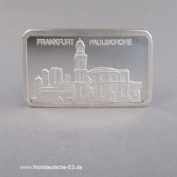 1 Unze Silberbarren Motivbarren Paulskirche Frankfurt
