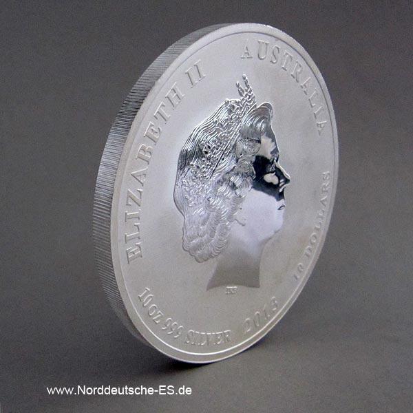 Australien 10 Unzen Silber Lunar II Schlange 2013