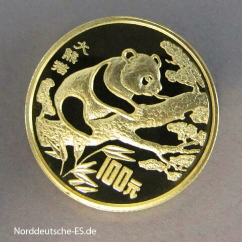 China Panda 100 Yuan 1994 Bedrohte Tierwelt Goldmünze