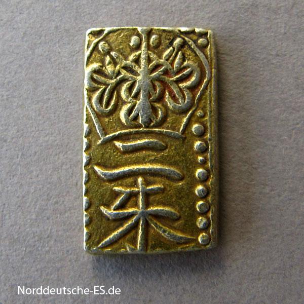 Japan 2 Shu Gold Nishu Kin 1832-1858 Tempo Era