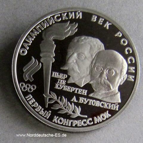Russland 1_2 oz Palladium Coubertin Butovsky 10 Rubel 1993