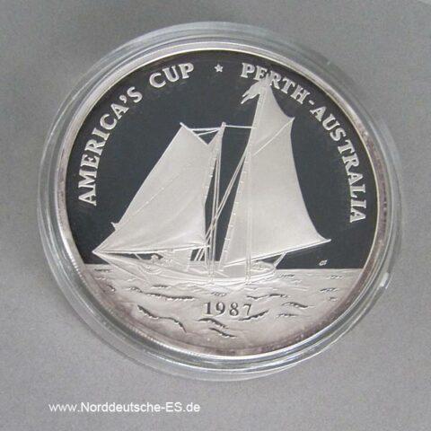 Samoa 5oz Silber 1987 America´s Cup 25 Dollar