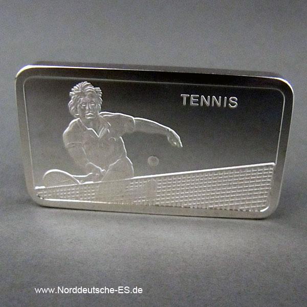 Silberbarren 1 oz Tennis Degussa
