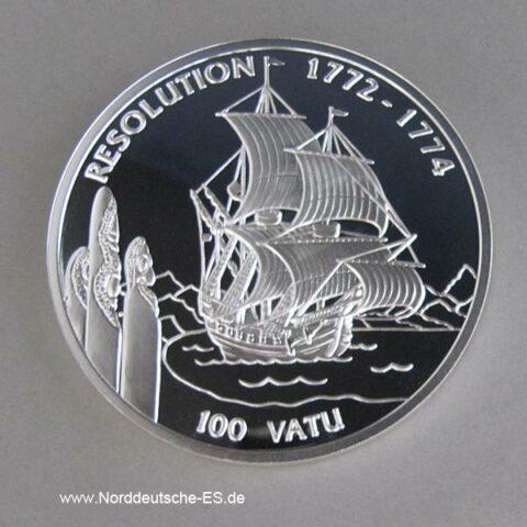 Vanuatu 5oz Silber 1996 Segelschiff 100 Vatu