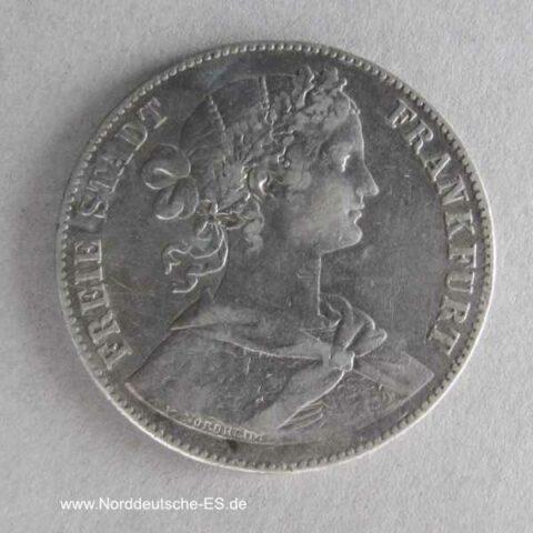 1 Vereinsthaler Silbermünze 1860 Frankfurt