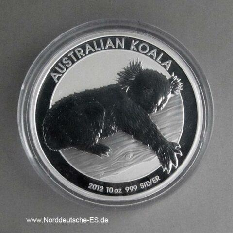 Australien 10 oz Silbermünze Koala 2012
