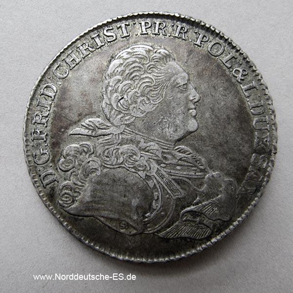 Konventionstaler IFoF Leipzig Friedrich Christian 1763