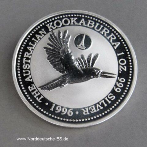 Kookaburra Privy Mark 1996 Silber