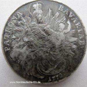 Madonnentaler 1772 Bayern Maximilian III Joseph Patrona Bavariae