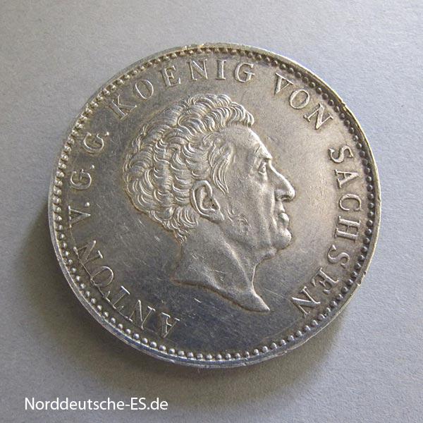 Sachsen Konventionstaler Anton 1832