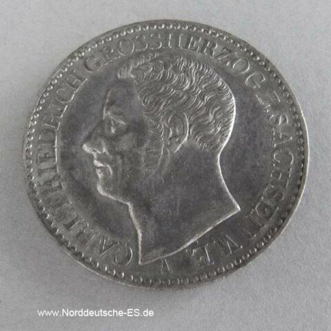 1 Taler Sachsen Weimar Eisenach 1841 A Carl Friedrich