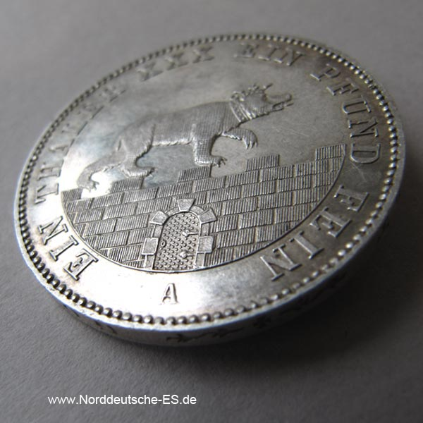 Ausbeutetaler 1861 A Berlin Vereinsthaler Alexander Carl