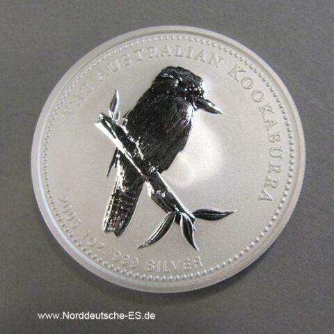 Australien Kookaburra 1 Oz Feinsilber 2005