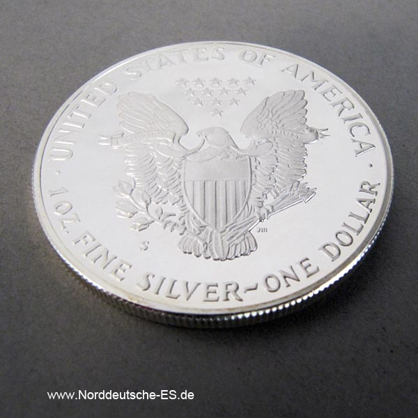 USA One Dollar American Eagle 1 oz Polierte Platte