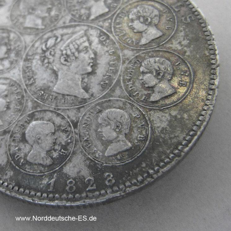 Bayern Geschichtstaler Segen des Himmels 1828 Ludwig