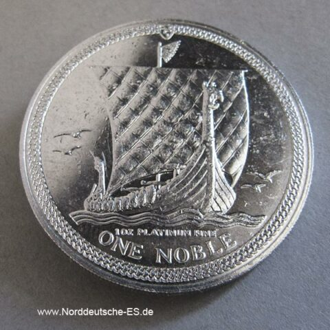 Isle Of Man One Noble 1 oz Platinmünze Gebrauchsspuren