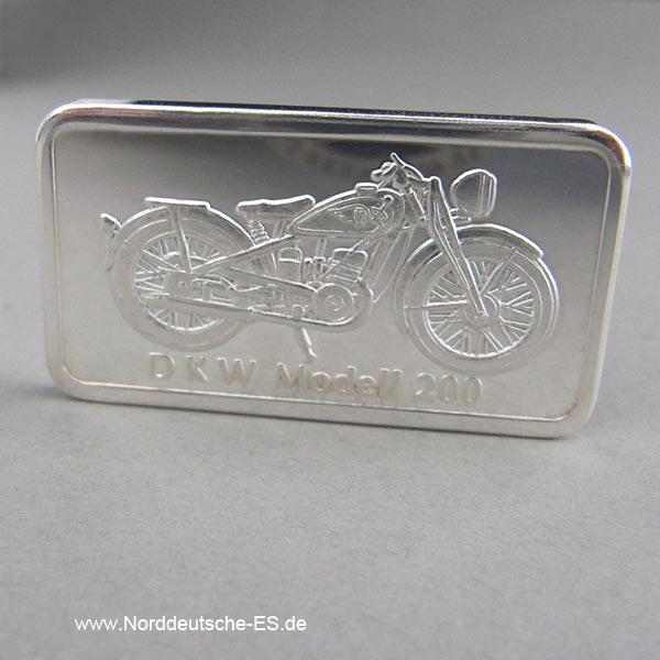 Silberbarren 1 Unze Motorrad DKW Modell 200