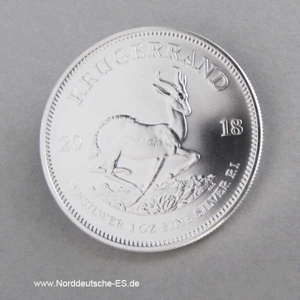 1 OZ Silber Krügerrand Stempelglanz