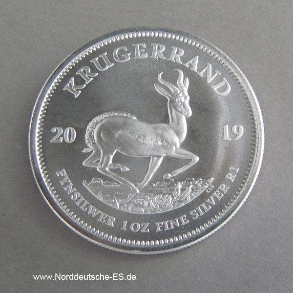 Südafrika 1OZ Silber Krügerrand 2019