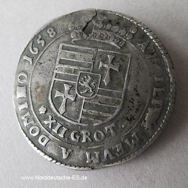 Altdeutschland Oldenburg 12 Grot Anton Günther 1658