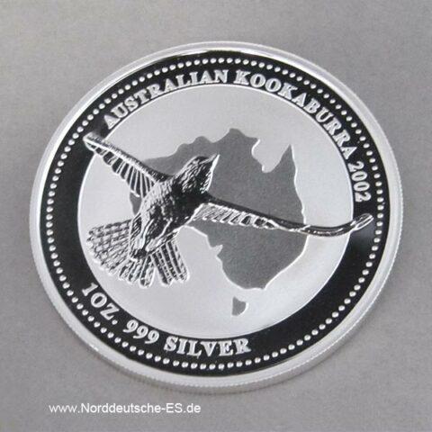 Australien 1 oz Silber Kookaburra 2002