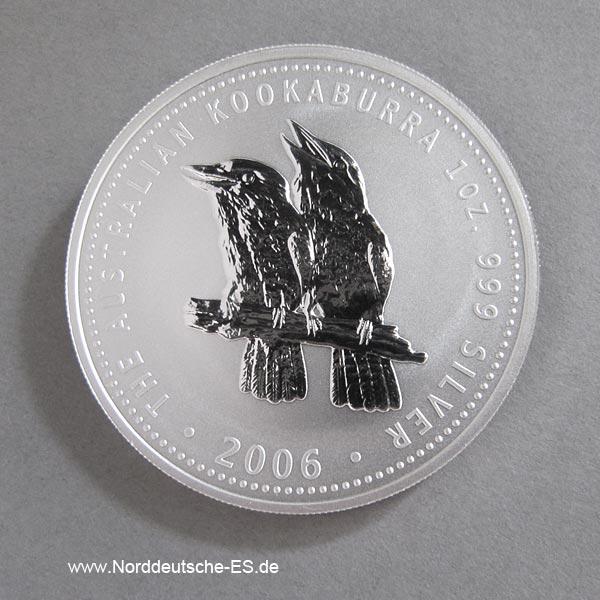 Australien 1 oz Silber Kookaburra 2006