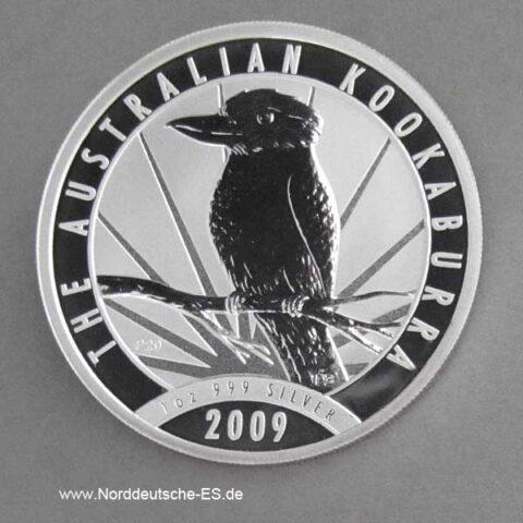 Australien 1 oz Silber Kookaburra 2009